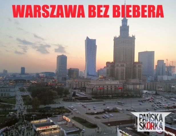 Panorama stolicy bez płachty reklamowej Pańska Skórka