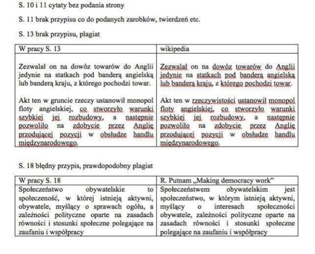 Studenci na FB wytykaili Goliszewskiemu korzystanie z ogólnodostępnych źródeł/ Facebook.com