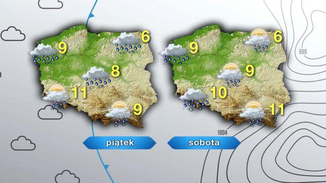 Prognoza pogody na piątek i sobotę