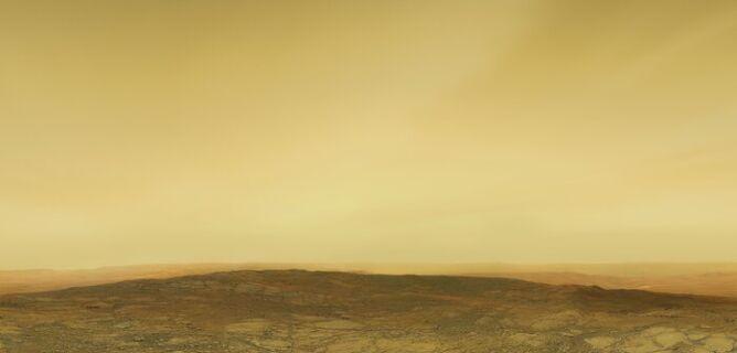 Artystyczna wizja powierzchni Wenus (ESO/M. Kornmesser)