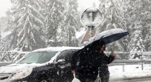 Pierwszy śnieg w Zakopanem (PAP/Grzegorz Momot)