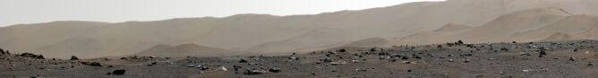Panorama Marsa - krawędź krateru Jezero