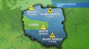 Warunki drogowe w poniedziałek 23.11