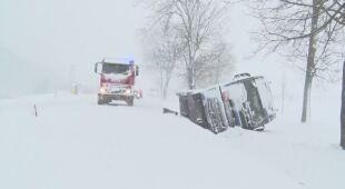 Bardzo trudne warunki na drogach w województwie lubelskim