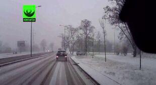 Śnieżny poranek w Krakowie (TVN24)