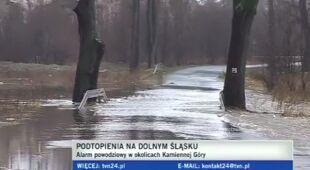 Przekroczone stany alarmowe na rzekach Dolnego Śląska (TVN24)